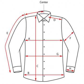 Measurements shirt image