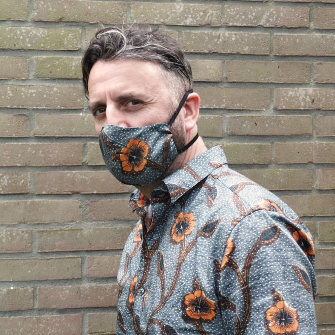 Face mask Hibiscus Garden
