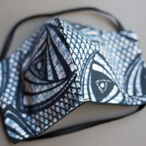 Face mask Eye of Providence Blue White